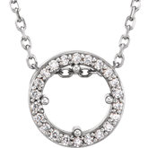 Diamond Halo-Style Necklace, Semi-mount or Pendant Mounting