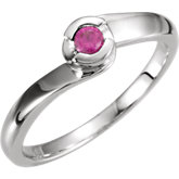 Bypass Ring Mounting for Round Gemstone Solitaire