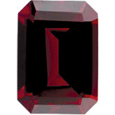 Emerald/Octagon Imitation Garnet