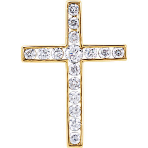 Diamond Cross Pendant or Mounting