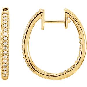 Hinged Diamond Inside/Outside Hoop Earring