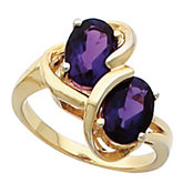 Ring Mounting for Two Oval Gemstone