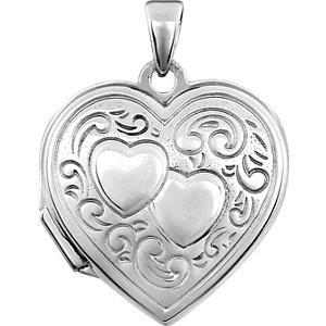 Double Heart Locket with Design