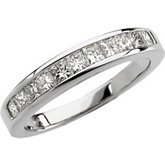3/4 ct tw Princess-Cut Diamond Anniversary Band