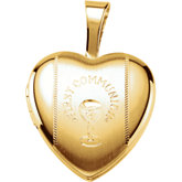 First Communion Heart Locket