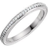 Diamond Sculptural Design Engagement Ring or Eternity Band