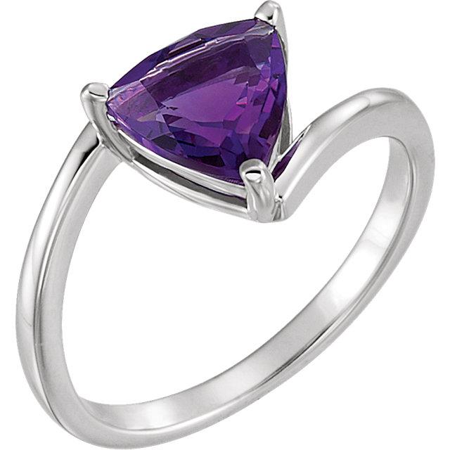 14kt White Amethyst Ring