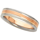 4mm Two-Tone Wedding Band
