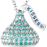 HERSHEY'S KISSES® Flat Back Cubic Zirconia Birthstone Necklace