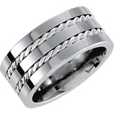 Dura Cobalt™ Band with Sterling Silver Cable Inlay