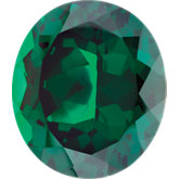 Oval Imitation Emerald