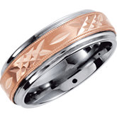 Dura Tungsten&reg: Diamond Cut Band with Milgrain