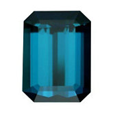 Emerald/Octagon Genuine Blue (Indicolite) Tourmaline (Black Box)