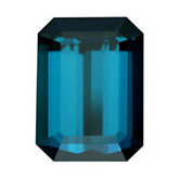 Emerald/Octagon Genuine Indicolite Tourmaline (Black Box Matched Sets)
