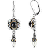 Two-Tone Design Fashion Dangle Earrings