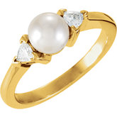 Ring Mounting for Pearl and Trillion Gemstones