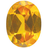 Oval Imitation Citrine