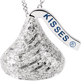 HERSHEY'S KISSES Flat Back Diamond Necklace