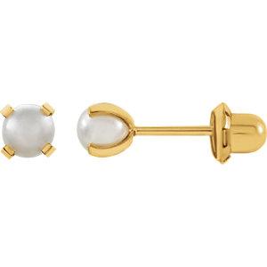 Simulated Pearl Piercing Earrings