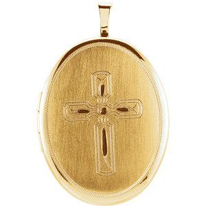 Oval Cross Locket