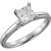 Square Solitaire Engagement Ring Mounting