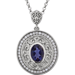 Gemstone & Diamond Sculptural-Inspired Necklace or Pendant Mounting