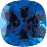 Antique Square Chatham Created Blue Sapphire