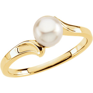 Akoya Aultured Pearl Bypass Ring