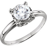 4-Prong Illusion-Style Solitaire Engagement Ring