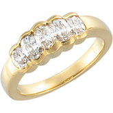 1 1/6 CTW Oval Diamond Anniversary Band