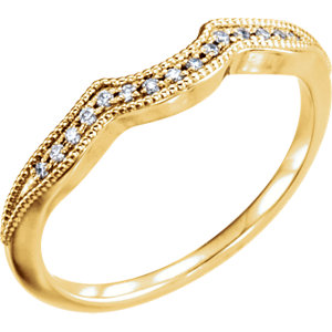14kt Yellow .06 CTW Diamond Matching Band