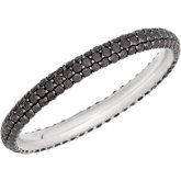 Black Diamond Eternity Band with Black Rhodium