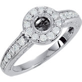 Halo-Style Semi-Mount Engagement Ring