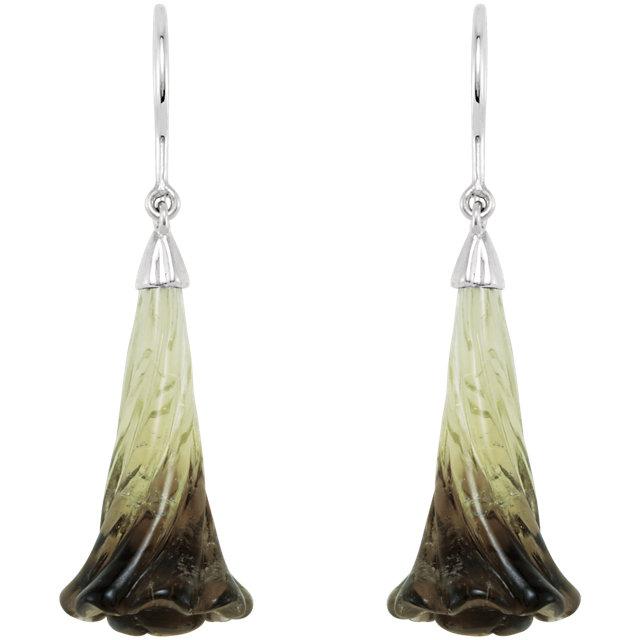 Sterling Silver Phantom Quartz Earrings