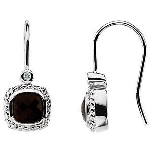 Onyx & Diamond Earrings