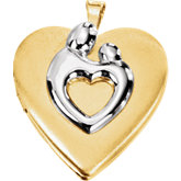 Heart Shaped Mother & Child® Locket