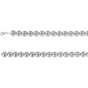 "Sterling Silver 16mm Bead 8"" Chain"