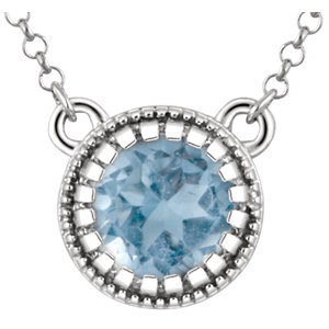 Birthstone Necklace or Center Mounting
