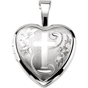 Heart Cross Locket