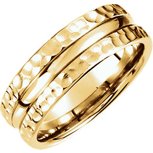 Fancy 7.5mm Carved Design Band