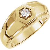 Men's Solitaire Ring Mounting