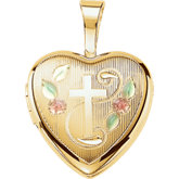 Cross Heart Locket