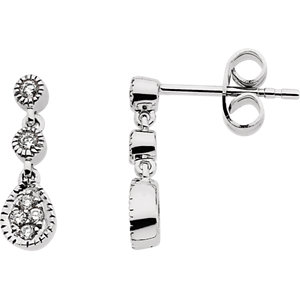 14kt White 1/  ATW<br> Diamond Earrings