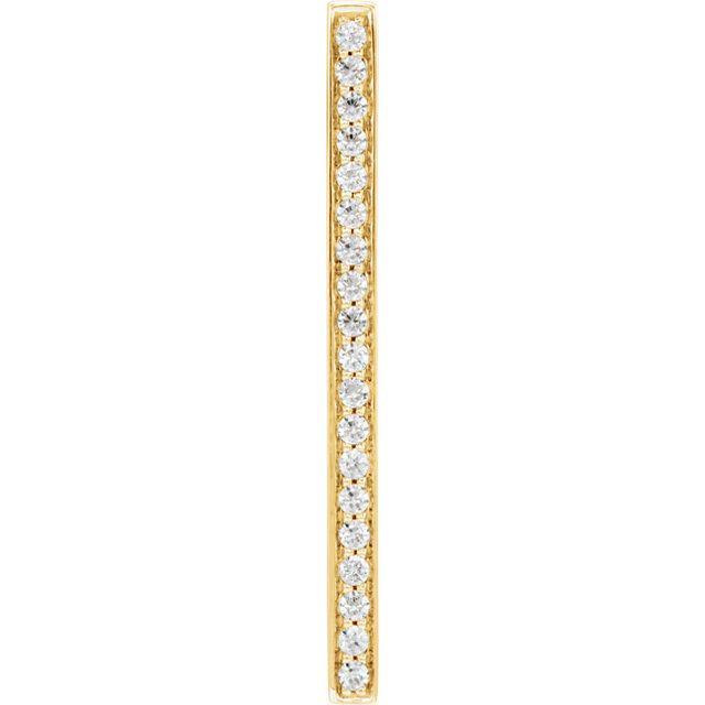 14K Yellow 1/5 CTW Diamond Vertical Bar Pendant