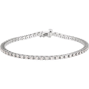 "14K White 2 CTW Diamond 7.25"" Line Bracelet"