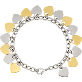 Amalfi™ Stainless Steel Heart Dangle Bracelet with Immersion Plate