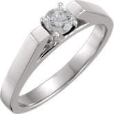 Round Cathedral Engagement Ring, Base or Band Mounting