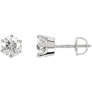 SI₂-SI₃ G-H Diamond Threaded Post Stud Earrings