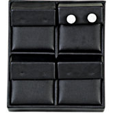 Black Leatherette 4-Earring Tray Display
