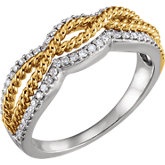 Accented Rope Ring